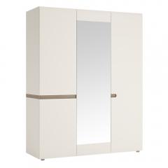 Шкаф 3D/TYP 22A, LINATE ,цвет белый/сонома трюфель