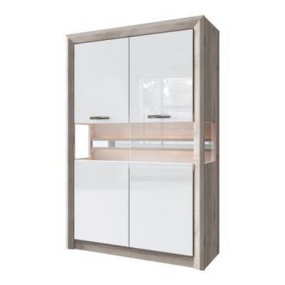 Шкаф с витриной 2V (Орландо - ORLANDO)