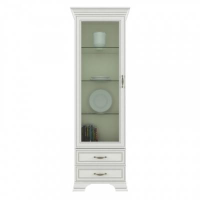 Шкаф с витриной 1V2S (Тиффани ANREX кремовый)