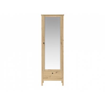 Шкаф с зеркалом SZF1W1S/60 (Хельга - Helga (дуб артизан))