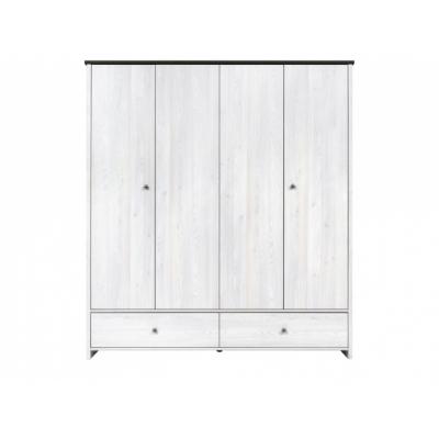 Шкаф платяной SZF4D2S (Порто)