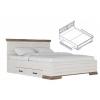 Кровать LOZ160х200 с выкатными ящиками (Марсель - Marselle)