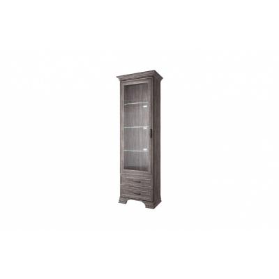 Шкаф с витриной 1V2S (Тиффани ANREX орех элия темный)