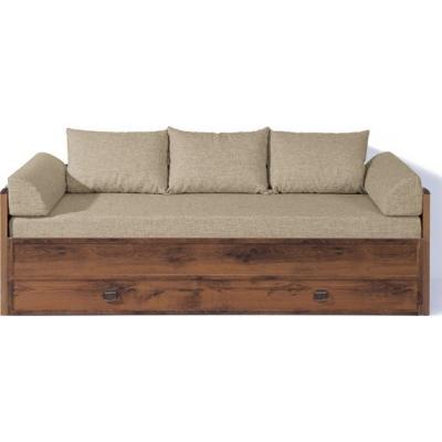 Диван-кровать раздвижная JLOZ80/160 с матрацем и подушками (Индиана дуб)