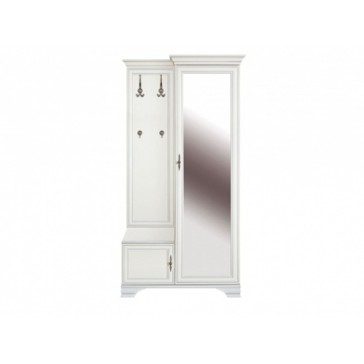 Шкаф с вешалкой S320-PPK/110P (Кентаки белый)